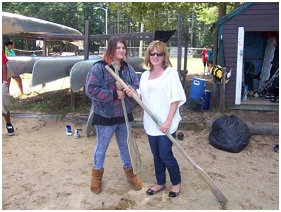 Barbara and Sarah recently accomplished their goal of canoeing together at our annual match barbeque!