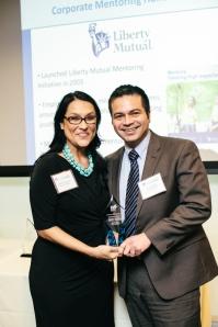 Liberty Mutual rep José Rosado with Big Sister Association of Greater Boston mentor Amanda Martinez. Photo courtesy Henry + Mac