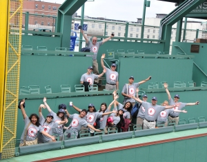 Stand & Deliver chorus on the Green Monster